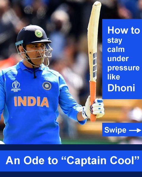 Calm like Captain MS Dhoni - Kunashni Parik Sport Psychologist -1