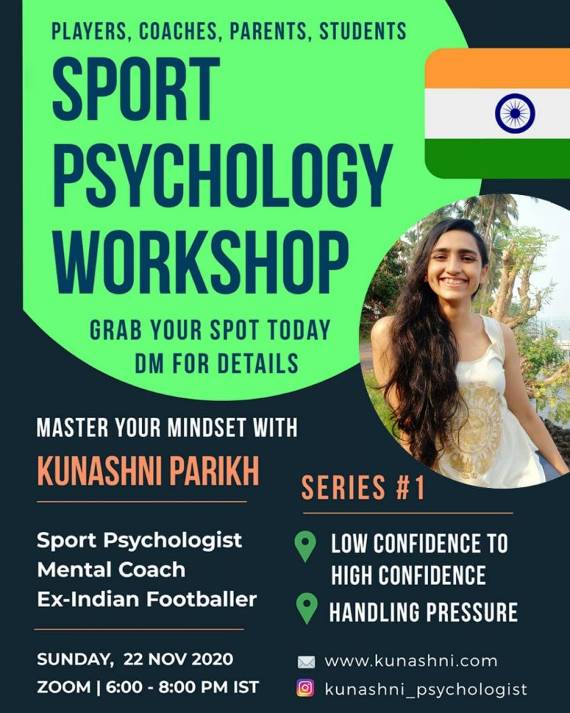 Kunashni Parikh Sport Psychology Workshop Series 1