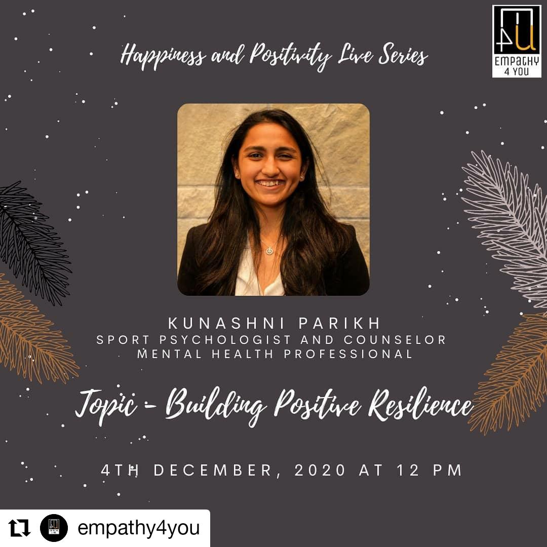 Building Positive Resilience - Instagram Live Session - Psychologist