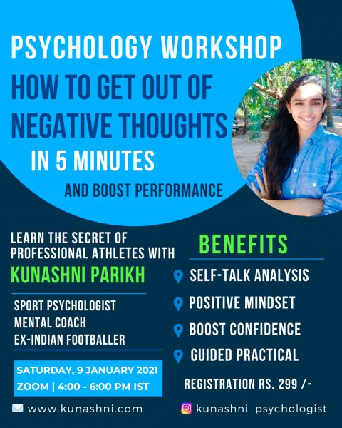 Sport Psychology Workshop #3 - Kunashni Psychologist