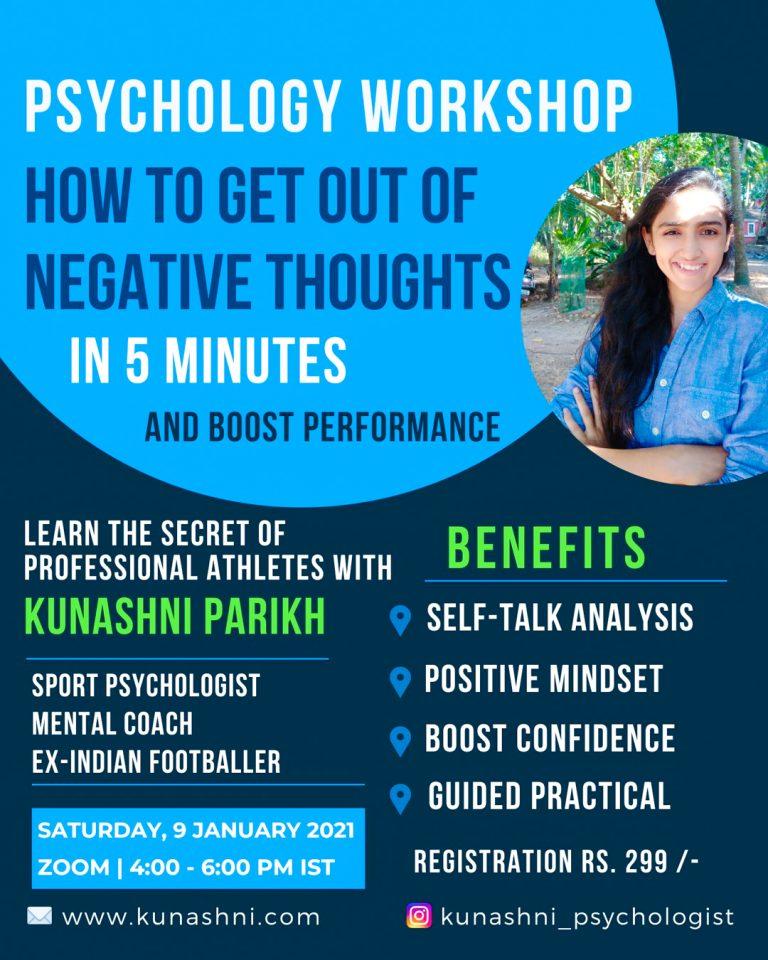 Sport Psychology Workshop #3 - Kunashni Psychologist