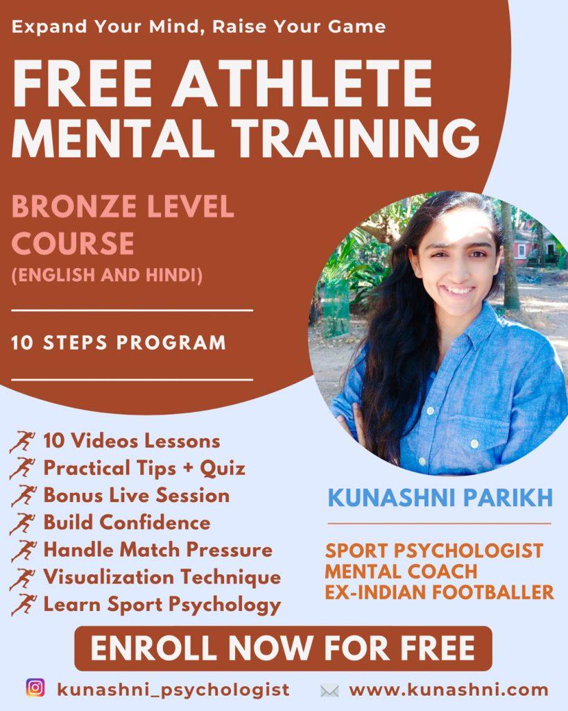 Free Athlete Mental Training Course - Kunashni Psychologist