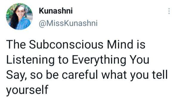 Subconscious Mind - Psychologist Kunashni