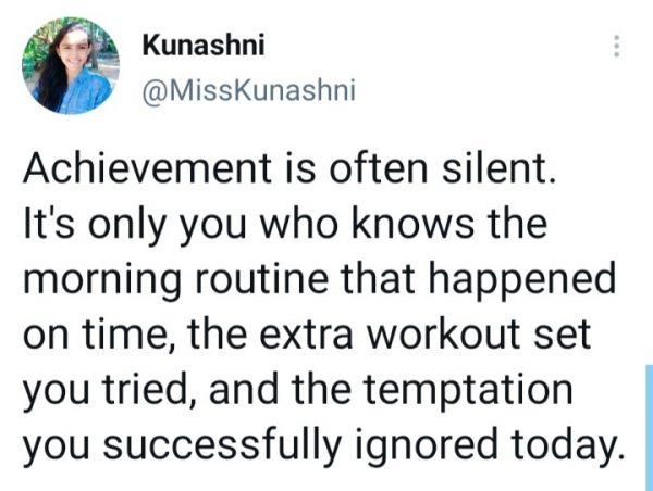 Sport Psychologist Kunashni = Achievement