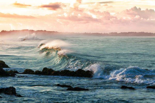 coast, waves, beach